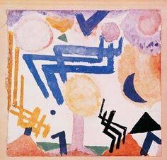 digitaler Kunstdruck: Paul Klee, Landschaftliches Hieroglyph