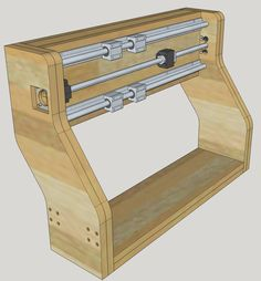 Fabrication d'une CNC Routeur Cnc, Cnc Router Plans, Diy Cnc Router, Cnc Plans, Cnc Lathe, Vis A Bille, Homemade Cnc, Cnc Manufacturing, Machine Cnc