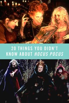 """You know these ladies can sing """"I Put A Spell On You"""" like no other, but did you know Leonardo DiCaprio almost played Max Dennison? Check out 20 things you didn't know about Hocus Pocus."""