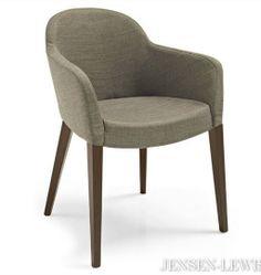 silla de comedor con diseño y bordes redondeados