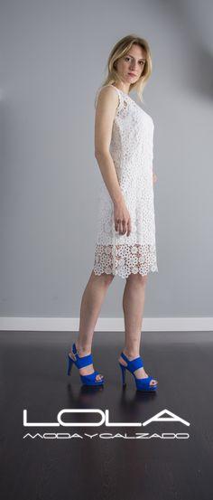 Tienes ganas de sol, tienes ganas de vestidos.  Pincha este enlace para comprar tu vestido en nuestra tienda on line:  http://lolamodaycalzado.es/primavera-verano/591-vestido-de-verano-guipur-sin-mangas-caster.html