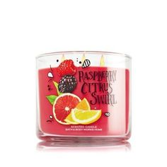 Bougie parfumée 3 mèches RASPBERRY CITRUS SWIRL Bath and Body Works Cocktail candle US USA Luxury Fragrance - http://amzn.to/2iFOls8