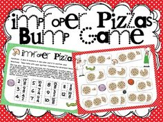 Improper Pizzas Bump Game (converting improper fractions to mixed numbers) $