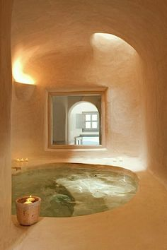 Greek bath // traditional architecture, minimal