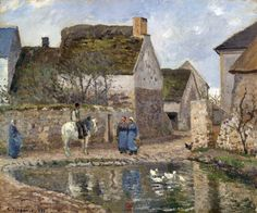 Camille Pissarro - The Pond at Ennery, 1874