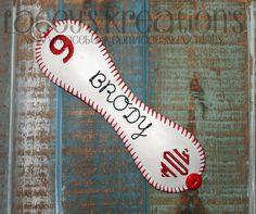 Personalized/Monogrammed Baseball Mom Bracelet Cuff  T-ball