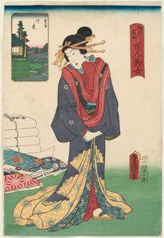 Senzoku, from the series One Hundred Beautiful Women at Famous Places in Edo (Edo meisho hyakunin bijo) | Museum of Fine Arts, Boston