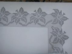 This Pin was discovered by ΕΥΑ Zig Zag Crochet, Crochet Cross, Thread Crochet, Crochet Trim, Crochet Doilies, Crochet Lace, Crochet Edging Patterns, Filet Crochet Charts, Crochet Borders