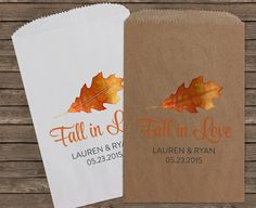 Fall in Love Candy Bar Buffet Bags Wedding Favors by StampsJubilee