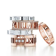Gorgeous stackable Tiffany Atlas rings Shop The Atlas® Jewelry Collection | Tiffany & Co.