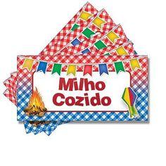 Plaquinha para Mesa Junina Milho Cozido - 05 unidades