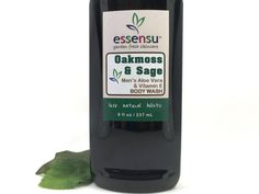 Men's Oakmoss & Sage Aloe Vera Natural Herbal Body Wash by essensu. This woodsy herbal scent is an alluring, clean and fresh fragrance. Sulfate free, paraben free, phthalate free. Vegan friendly.