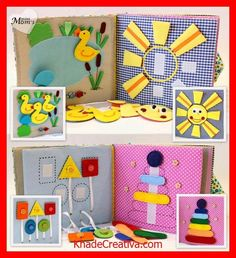 KhadeCreativa.com Quiet Book Busy Book Eco friendly educational Toddler door MiniMoms source by :http://pinterest.com/pin/541628292663228041/