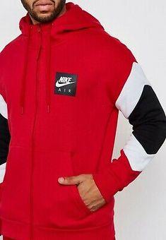 Nike Mens Black Blue Tribute Hoodie Full Zip Poly Sweatshirt Sports Track Jacket