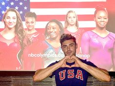 11 Sweet Love Stories to Come Out of the Rio Olympics | SIMONE BILES & ZAC EFRON | Looks like Biles has another admirer! Before the Games, the gold medalist invited cameras into her home, where she showed off her life-size cutout of Efron, which she revealed she would sometimes kiss. Efron, who has tweeted about the 2016 Olympics, has a soft spot for the #FinalFive gymnastics team, too; the Baywatch star even tweeted out a pic of himself making a heart sign with his hands while standing in…