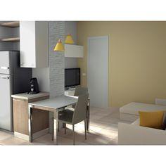 cucina e soggiorno separati - libreria cartongesso e vetro | idee ... - Cucina Soggiorno Open Space 20 Mq 2