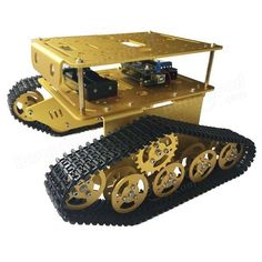 DIY DT300 WIFI Double Layer Decker Tracked Model Tank Compatible With Arduino UNO R3