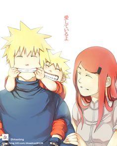 Minato, Kushina and Naruto Naruto Shippuden Sasuke, Anime Naruto, Minato Y Kushina, Kakashi Itachi, Naruto Cute, Naruto And Hinata, Manga Anime, Familia Uzumaki, Familia Anime