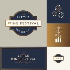 Little wine festival of los angeles j fletcher dribbble #jay fletcher #foil #branding — Designspiration