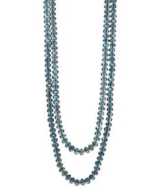 Look what I found on #zulily! Sapphire Beaded Double-Strand Necklace #zulilyfinds3  simple but stunning!