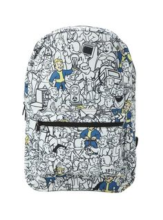 Canvas backpack from Fallout with color detailed Vault Boy print design. x polyesterImported Fallout Merch, Fallout Vault, Fallout Game, Fallout Posters, Pip Boy, Fallout New Vegas, Fall Out 4, Boys Backpacks, Canvas Backpack