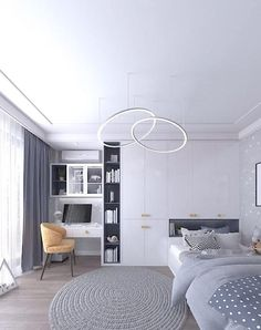 Small Room Design Bedroom, Small Bedroom Interior, Small House Interior Design, Bedroom Furniture Design, Home Room Design, Bedroom Decor, Cama Design, Luxurious Bedrooms, Design Ideas