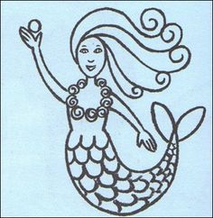 How to draw a Mermaid drawing lesson