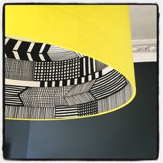 Love Frankie Marimekko Silhouette Lampshade In Sunshine Yellow ($60) ❤ liked on Polyvore featuring home, lighting, drum lamp shade, drum lamp-shade, drum light shade, handmade lampshades and handmade lamps