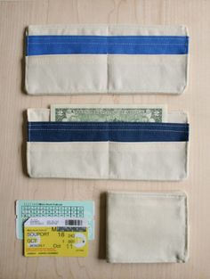 DIY wallet...good idea for older kids. I love gifts for that are related to real life. learning about money is important
