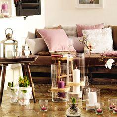 wohnen leben wohnzimmer vasen
