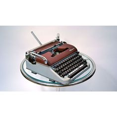 Olympia Sm3 Typewriter In Burgundy And Gray - Beyond the Rack