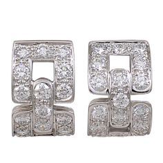 TIFFANY&CO Diamond Large Huggie Earrings