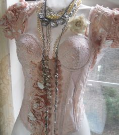 Pink bustier looking a bit shabby Chic