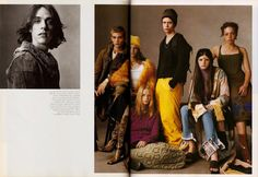 The Group – shot by Steven Meisel for Vogue Italia, July 1999