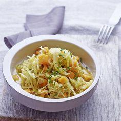 Sauerkraut-Fenchel-Salat mit Mango