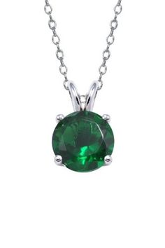 Authentic Emerald Color Cubic Zirconia Pendant 2.00 Carat Ttw.(chain Not Includ) Lowest Price Ever but Only for a Limited Time! .925 Sterling Silver Emerald  pendant  Color. Birth Stone of  May. 7mm Sotone in bascket setting. genuine Sterling Silver. .925 Sterling Silver Basket setting,polish and Rodium.  #Authentic_stud_earrings #Jewelry