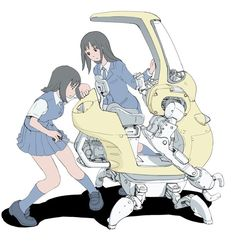 Game Character Design, Character Design Inspiration, Character Art, Cyberpunk Anime, Cyberpunk Fashion, Robot Girl, Robot Concept Art, Futuristic Art, Marvel Comic Character