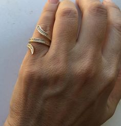 Snake Ring Snake Ring Fashion Ring Gold Fill by Limajewelry