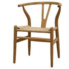 Wishbone Wood Y Chair Natural - Baxton Studio : Target