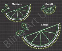 Lime Rhinestone Design File Pattern Download Stencil Template EPS PLT PDF SVG Bling Art