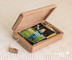Memory Box Plus - Caixa de Madeira em Jequitibá Rosa Personalizada 19x12cm Wood Box