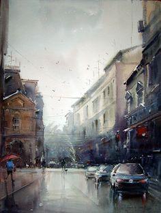 Watercolours by Dusan Djukaric