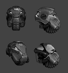 Space Marine Terminator Helm, Ted Beargeon on ArtStation at http://www.artstation.com/artwork/space-marine-terminator-helm