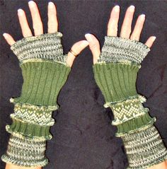 handwarmers from recycled sweaters.