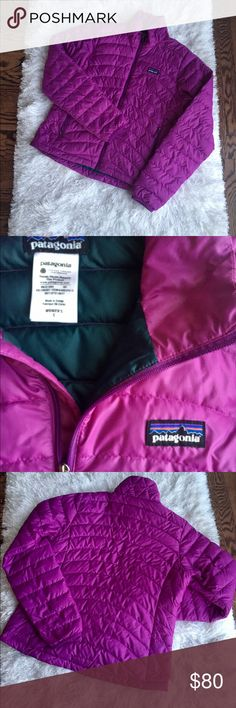 Patagonia Women's Down Jacket All down contains a mixture of light and dark clusters, and some dark down clusters might be visible through a garment's shell fabric – especially lighter-colored garments. Patagonia Jackets & Coats Utility Jackets