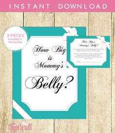 Baby and Co Baby Shower How Big is Mommy's Belly by TppCardS