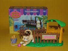 Rare Vintage My Littlest Pet Shop Kenner 1993 - Tiger Kitty Cat & Bird complete #Hasbro