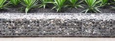 LOW COST Stone gabion baskets for retaining walls Gabion Retaining Wall, Landscaping Retaining Walls, Front Yard Landscaping, Small Retaining Wall, Landscaping Ideas, Gabion Wall Design, Stone Wall Design, Gabion Cages, Landscape Design