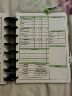 Organise your Life & Mind: A5 Weekly Inserts for my ARC Planner