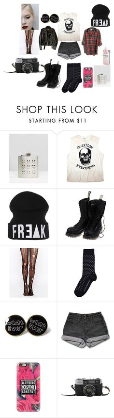 """punk/grunge outfit 3"" by carmanfunky ❤ liked on Polyvore featuring Vegetarian Shoes, Leg Avenue, Baum und Pferdgarten, PèPè, Christian Benner and Casetify"